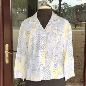 Ruby Rd. Gray, yellow, & White Jacket, size 16P